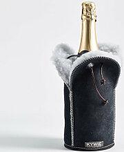Schaffell Champagnerkühler Blaue Wooler von Kywie