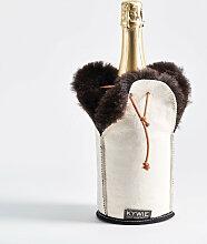 Schaffell Champagnerkühler Weiße Wooler von Kywie