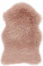 Schaffell Teppich Shaggy Rosa Weich Flauschig