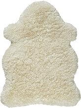 Schaffellimitat 90/120 cm Weiß