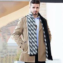 Schal männliche Business-koreanische Version gehobenen Herbst und Winter neue Verdickung stricken Schal Mode einfach ( Color : F )