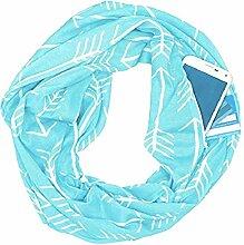 Schal Schal-Reißverschlusstasche Multifunktionale