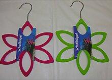 Schalbügel Blume grün oder pink Schalhalter Schalhänger Tuchhalter Bügel Pink