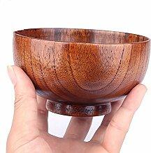 Schale aus massivem Holz, für Reis, Suppe, Dip,