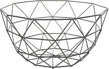 Schale aus Metall, D 27cm, schwarz