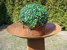 Schale aus Metall Rost Feuerschale Deko Pflanzschale Gartendeko Edelrost Durchm: 54 cm