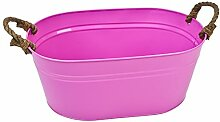 Schale Colori Design Metall 18x42x26cm pink Pflanzschale Deko