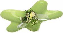 Schale, Dekoteller KLECKS innen grün außen weiß 43x31cm H. 7cm Formano WA (12,90 EUR / Stück)