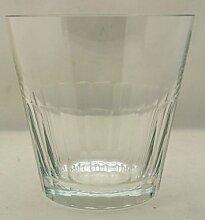 Schale - Eiskübel aus Glas mit Schliffdekor im unteren Drittel