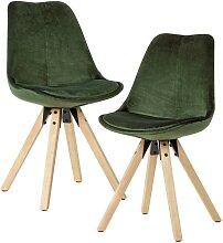 Schalen Esszimmer Stühle in Grün Samt modern