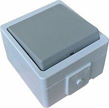 Schalter 1-fach IP44 Feuchtraum Lichtschalter Universalschalter spritzwassergeschützt Aufputz System: STERA