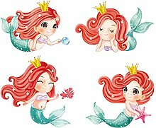 Schalter Aufkleber Aquarell Meerjungfrau