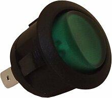 Schalter rund Kontrollleuchte grün Ø20mm