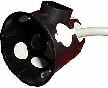 Schalterdose (Abzweigschalterdose) Unterputz winddicht mit Durchstoßmembranen - schwarz - Ø 60 mm, Höhe 60 mm - 40 Stück