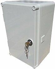 Schaltschrank UNI-mini mit Schloss 300x200x160mm Aufputz Verteilerschrank Industriegehäuse Schaltkasten 43.01 IP65 5900