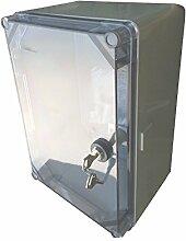 Schaltschrank UNI-mini/T mit Schloss 300x200x160mm Verteilerschrank Industriegehäuse Schaltkasten 43.02 IP65 5917