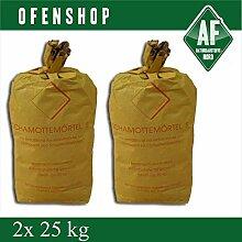 Schamottemörtel S 2x 25 kg Ofenbau