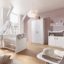 Schardt 3-tlg. Babyzimmer Classic White mit