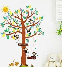 scharfe Doppel Eule Affen Baum Höhe Cartoon kann