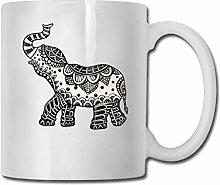 Schatz-Elefant-Mode-Kaffeetasse-Porzellan-Becher