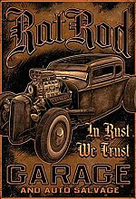 Schatzmix Auto Hot Rod Garage Salvage Metallschild