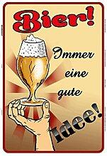 Schatzmix Bier! Immer eine Gute Idee! Blechschild