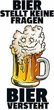 Schatzmix Bier stellt Keine Fragen... blechschild,