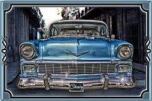 Schatzmix Chevy Retro blechschild, reklame, blau