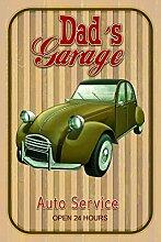 Schatzmix Dads Garage Auto Service blechschild
