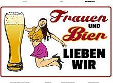 Schatzmix Frauen und Bier lieben wir blechschild