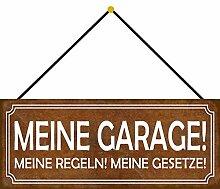 Schatzmix Garage Regeln Gesetze Auto Metallschild
