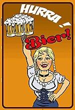 Schatzmix Hurra! Bier biergarten blechschild