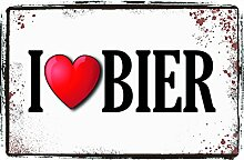Schatzmix I Love Bier, ich Liebe Bier blechschild