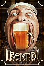 Schatzmix Lecker! Bier blechschild, hässlich,