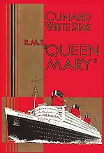 Schatzmix Nostalgie RMS Queen Mary Metallschild