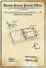 Schatzmix Patent Entwurf Tierfalle-Hooker
