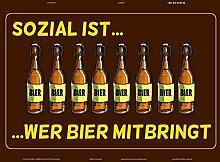 Schatzmix Sozial ist wer Bier mitbringt! Lustig