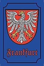 Schatzmix Stadtwappen Frankfurt blechschild,