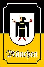 Schatzmix Stadtwappen München blechschild,