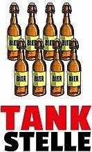 Schatzmix Tankstelle - lustig, blechschild, Comic,