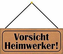 Schatzmix Vorsicht Heimwerker Metallschild 27x10cm