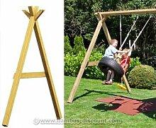 Schaukelanbau A-Teil für Spielturm, Höhe 248cm - Kinderspielgeräte für Garten, Spielgeräte für Kinder, Spielturm, Spieltürme