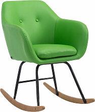 Schaukelstuhl Avalon Kunstleder-grün