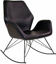 Schaukelstuhl NYNNE in schwarz Stuhl Sessel