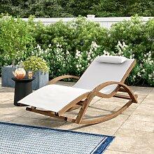 Schaukelstuhl Senter mit Kissen Garten Living