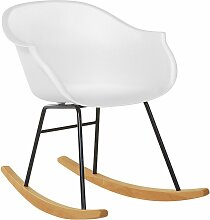 Schaukelstuhl Weiß Kunststoff Skandinavisch Modern