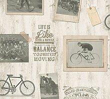 Schaumtapete, Livingwalls, »klassische Vintage Tapete Simply Decor«
