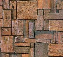Schaumtapete, Livingwalls, »natürliche Tapete in Holzoptik Simply Decor«