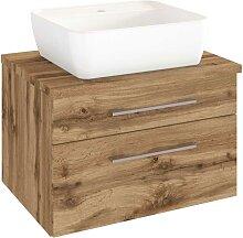 Schbuladen Waschtisch mit Aufsatz-Waschbecken