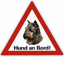 Schecker Auto Aufkleber Hund an Bord inkl. 4 World